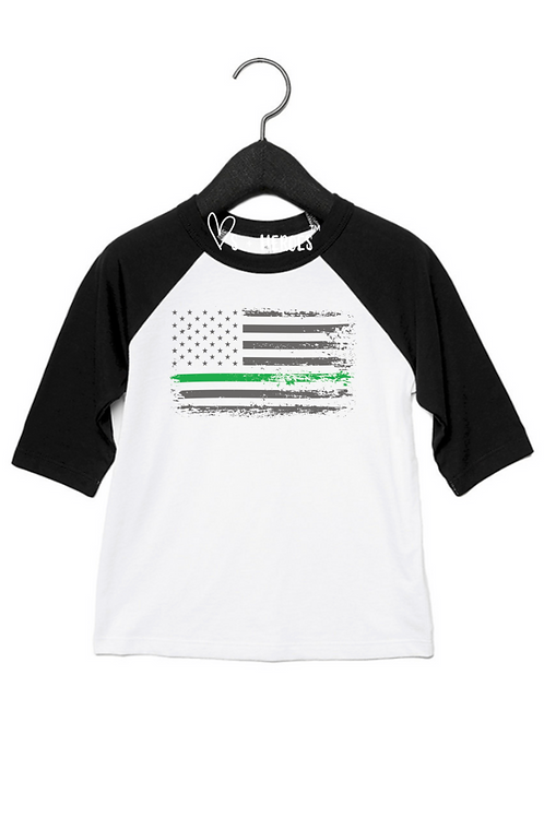 THIN GREEN LINE  ( BLACK SLEEVE)