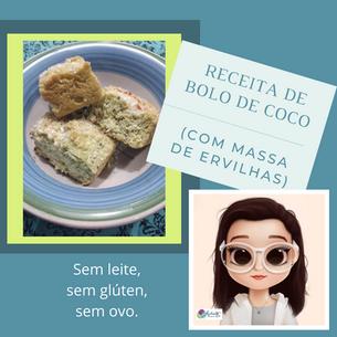 Bolo de coco (com massa de ervilhas)