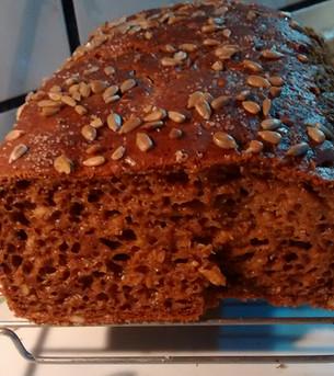 Pão de Linhaça (sem glúten, sem leite, sem ovo)