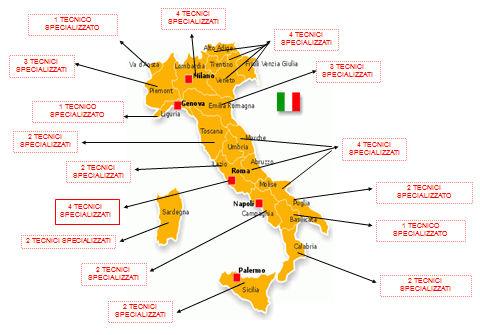 I Nostri centri assistenza in Italia