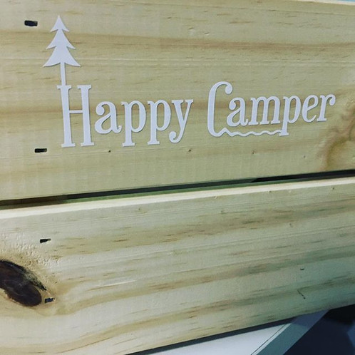 Item Happy Camper Vinyl Decal