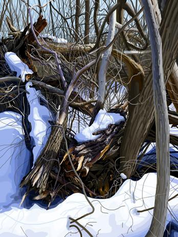 Tangle of Broken Trees