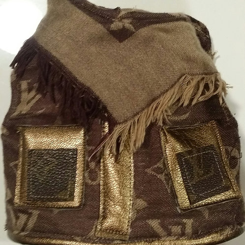 Louis Vuitton inspired harness with scarf
