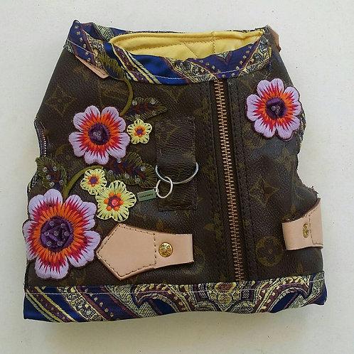 LV inspired flower harness jacket