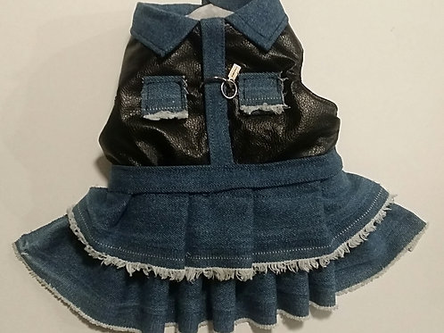Denim harness dress