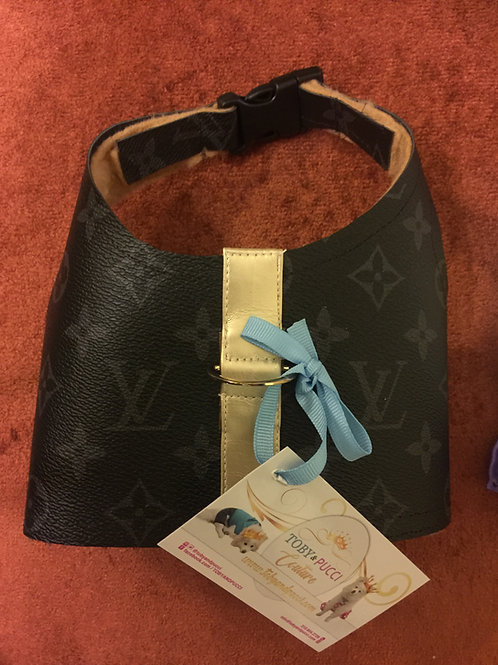Black and grey LV inspired Harness small