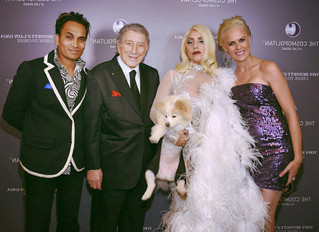 Toby with Lady Gaga and Tony Bennett
