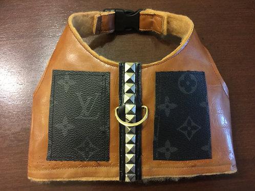 LV  inspired brown pocket harness Vest