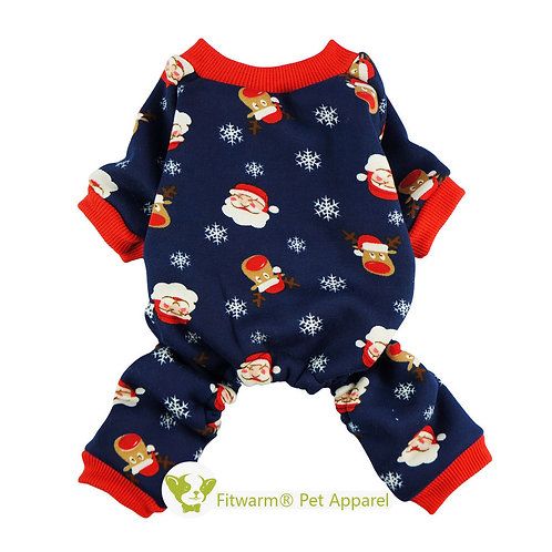 Fleece Winter Pajamas santa