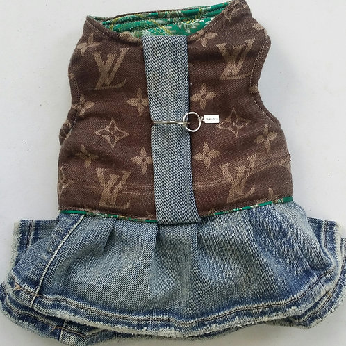 lv inspired harness dress