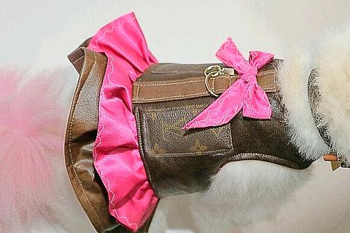 LV INSPIRED pink harness dress