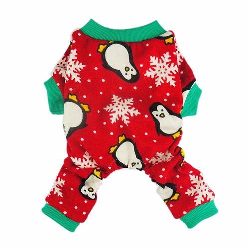 Fleece Winter Pajamas penguins