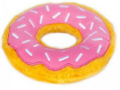 Pink glazed donut plush
