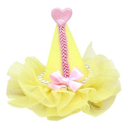 Pretty Party Hat Dog Bow