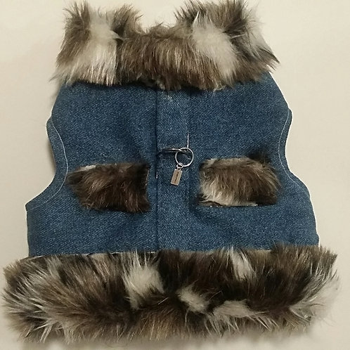 Cozy denim harness
