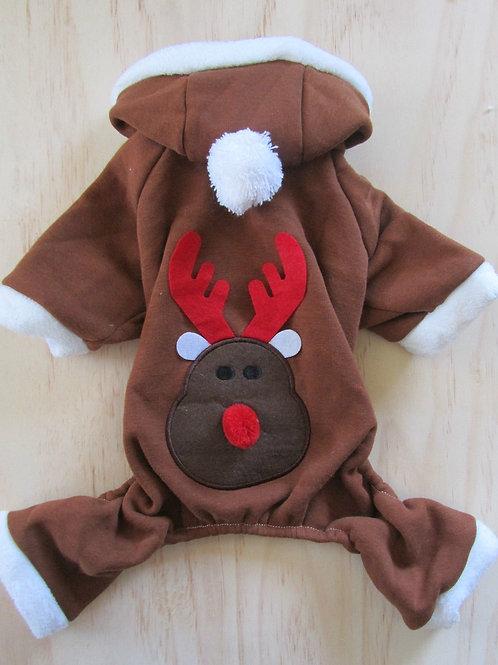 Christmas Brown Reindeer Jumpsuit