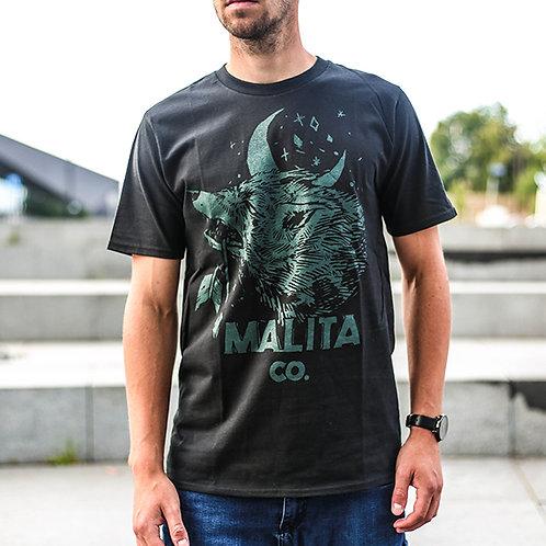 koszulka MALITA sea Wolf/black