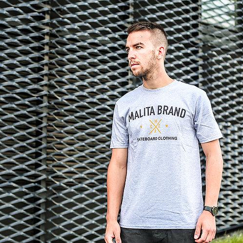 Koszulka MALITA BRAND heathergrey