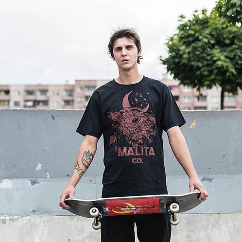 Koszulka MALITA red Wolf/black