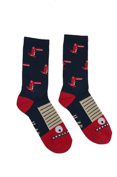 Skarpetki Malita Crocodiles navy/red