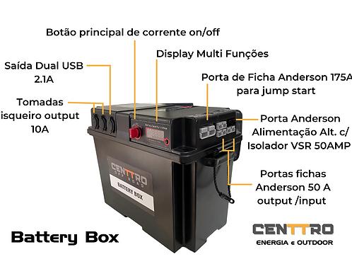 Caixa de Dual Battery com Isolador VSR 50 Amp