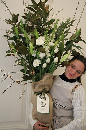Luxe Vase White & Green