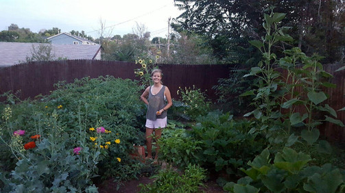 teach me to grow owner and her first garden
