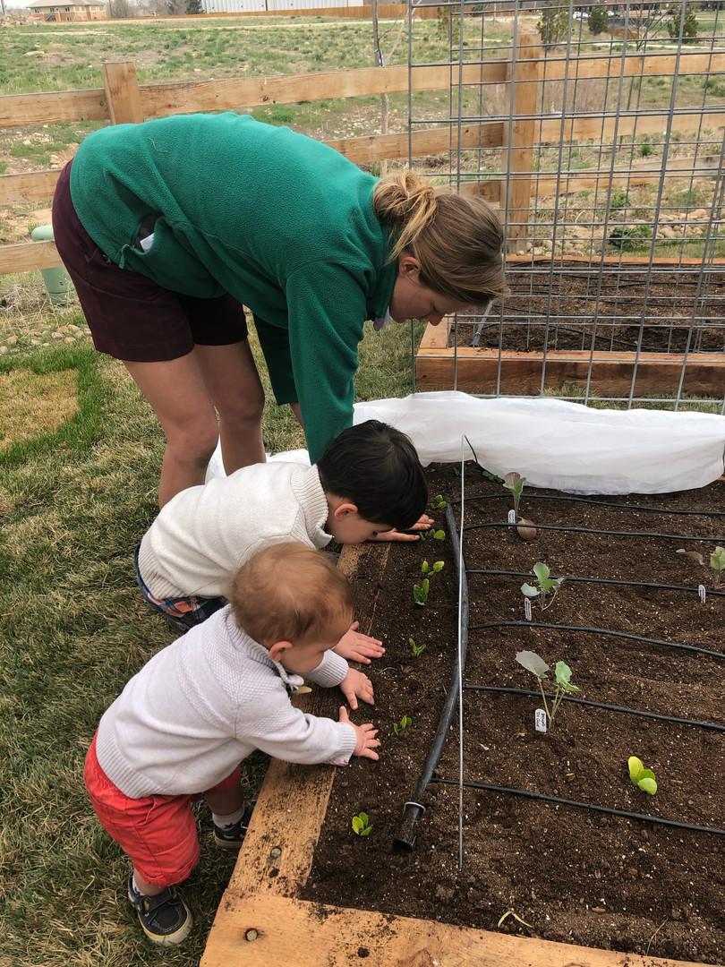 garden coaching with kids