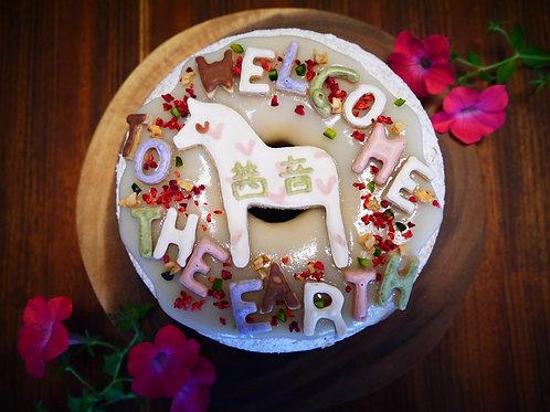 デコレーションリングケーキ(いちご)