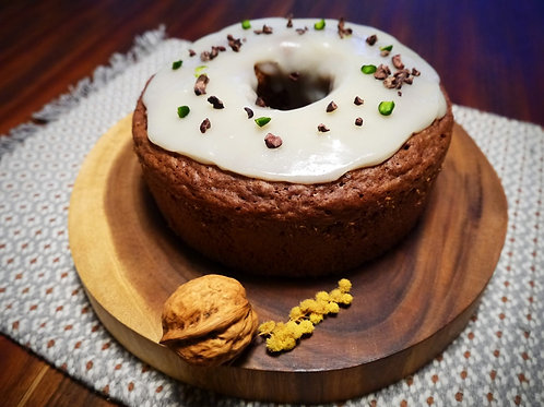 有機ココアと無農薬ブルーベリーのリングケーキ