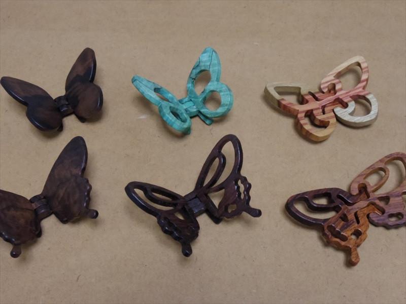 蝶々のペンダントトップ