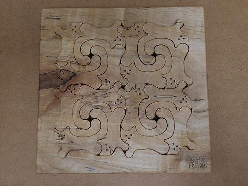 猫の組み積み木 トチ(栃)