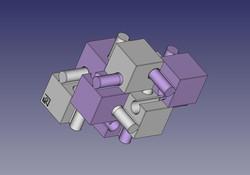 組木屋ジグソーキューブ(紫)
