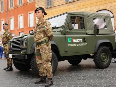 Arriva l'esercito per le strade