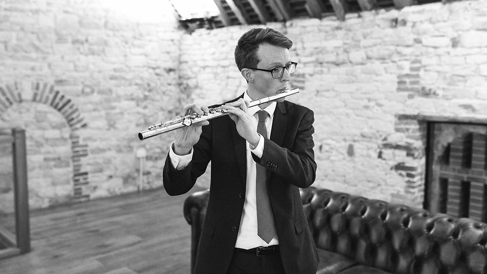 Jonathan Slade playing the flute
