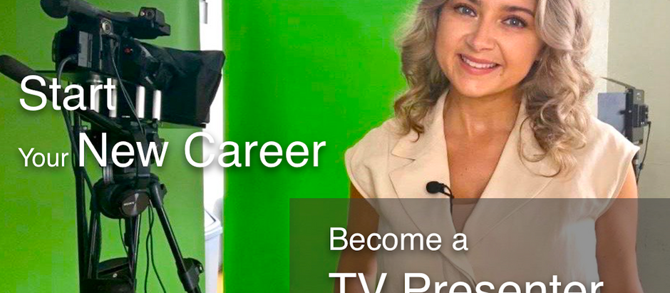 Get a new career - Become a TV Presenter - September and October special rates.