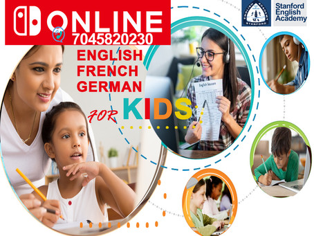 Online English - French - German courses for Kids and Teens