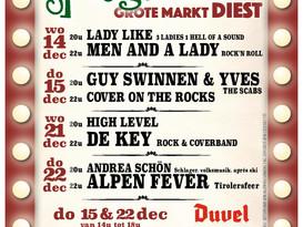 Woensdag 14/12 - Spiegeltent, Grote Markt Diest