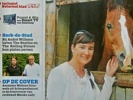Melissa op de cover van Rondom (Het Nieuwsblad)