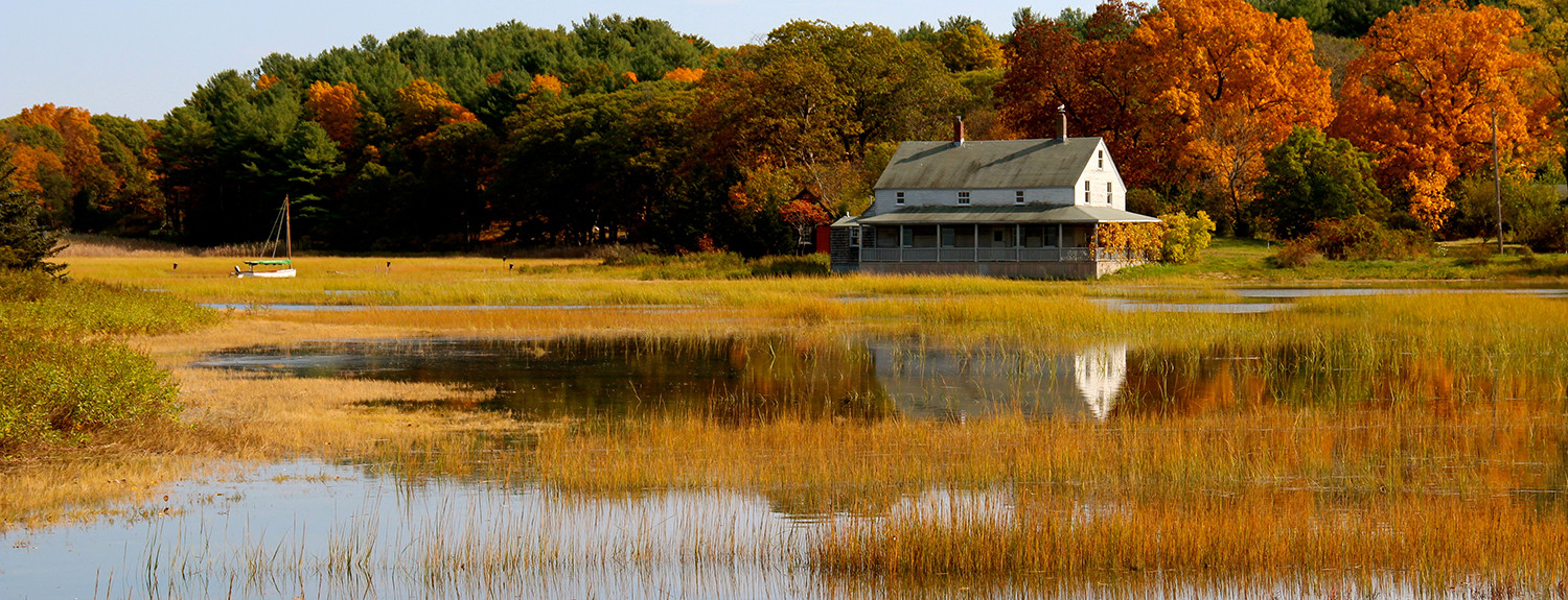 """""""J.T. Farnham's famous fried clams and the spectacular view of Eben's Creek and the Great Marsh."""" - Tom P."""