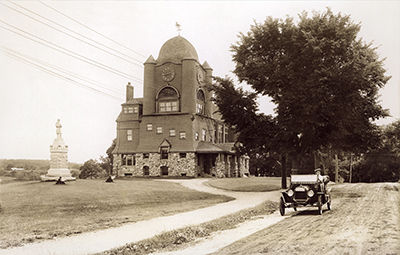 Essex Town Hall and T.O.H.P. Burnham Public Library, MA, circa 1915