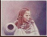 Femme Peul aux tresses
