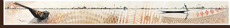 sur le niger - Lithographie : 20x180cm