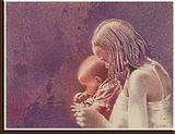Femme Peul et son enfant
