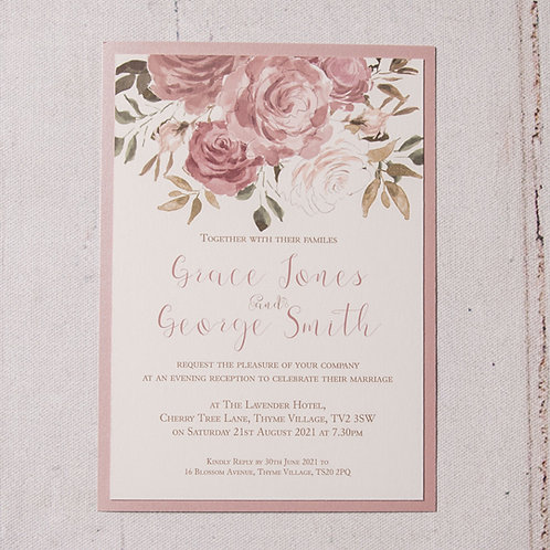 Jessica Flat Evening Invitation