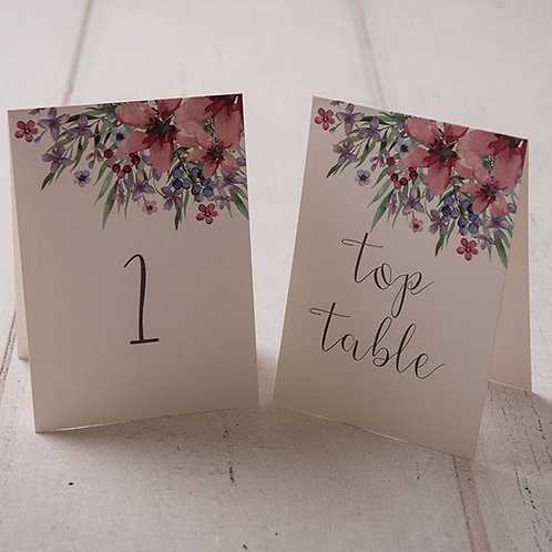 Flora Table Number
