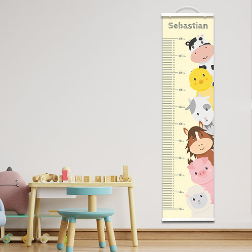 Personalised Farm Height Chart