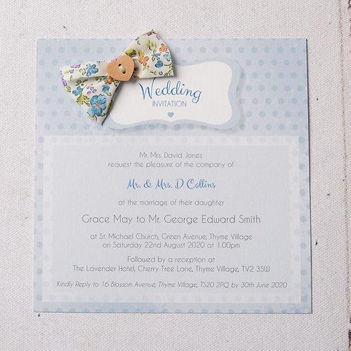 Dotty Flat Wedding Invitation