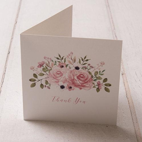 Fleur Thank You Card