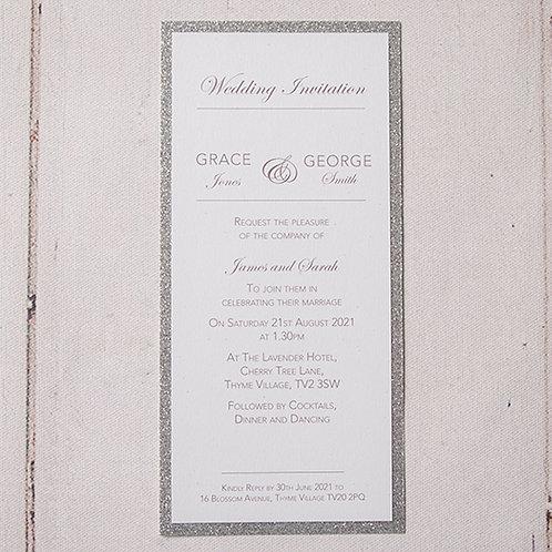 Rebecca Tall Flat Wedding Invitation